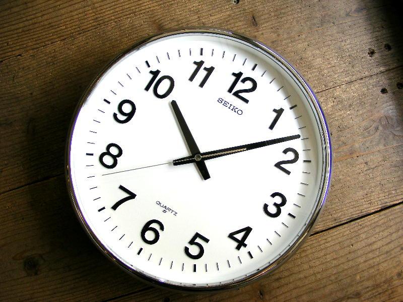 1980年代のアンティーククロックのセイコー・クォーツ・クロック・QA414N・学校用・掛時計が仕上がりました。