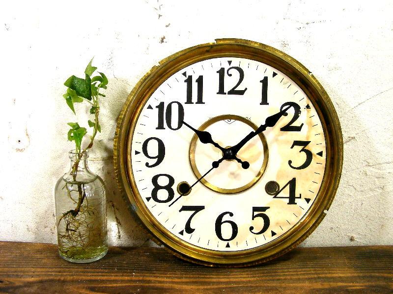 大正頃・精工舎・アンティーク振り子時計・文字盤・掛け時計(電池式・スイープ・クォーツ)