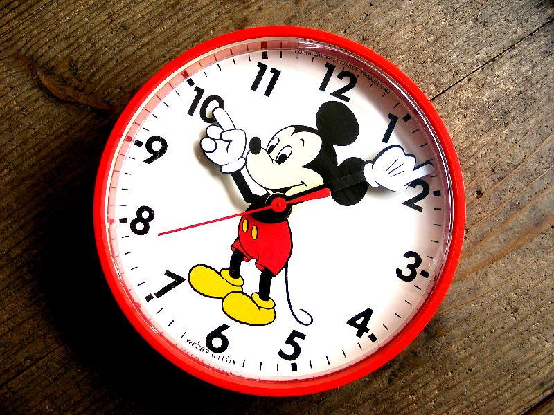 1980年代アメリカのヴィンテージクロックのWelby by ELGIN・ウェルビー・エルジン・ウォルト・ディズニー・ミッキーマウス・クロック(電池式・クォーツ)が入荷しました。