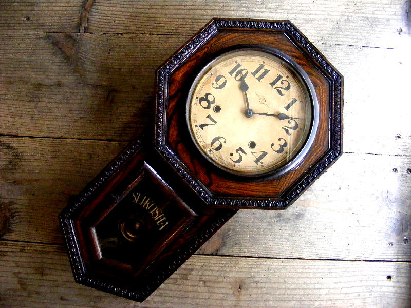 大正頃の古時計の精工舎・八角型・振り子時計・310(電池式・クォーツ改造)が仕上がりました。