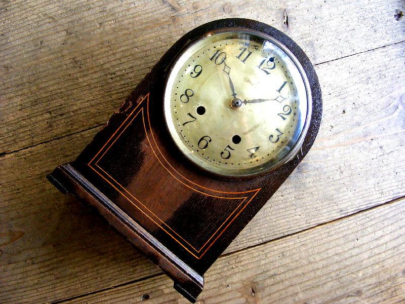1920年代アメリカのビンテージデスククロックのSETH THOMAS・デスククロック・R型・手巻式(電池式・クォーツ改造)が仕上がりました。