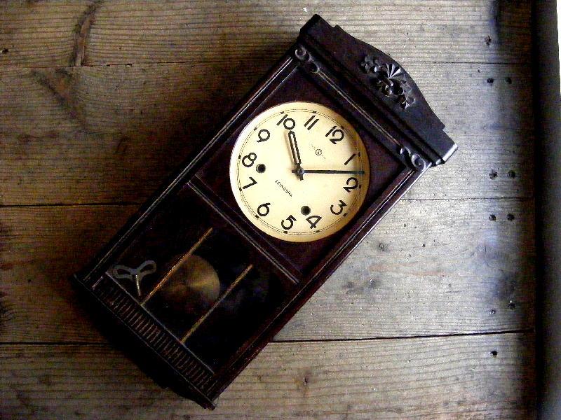 昭和初期頃・精工舎・振り子時計(電池式・クォーツ改造)が仕上がりました。