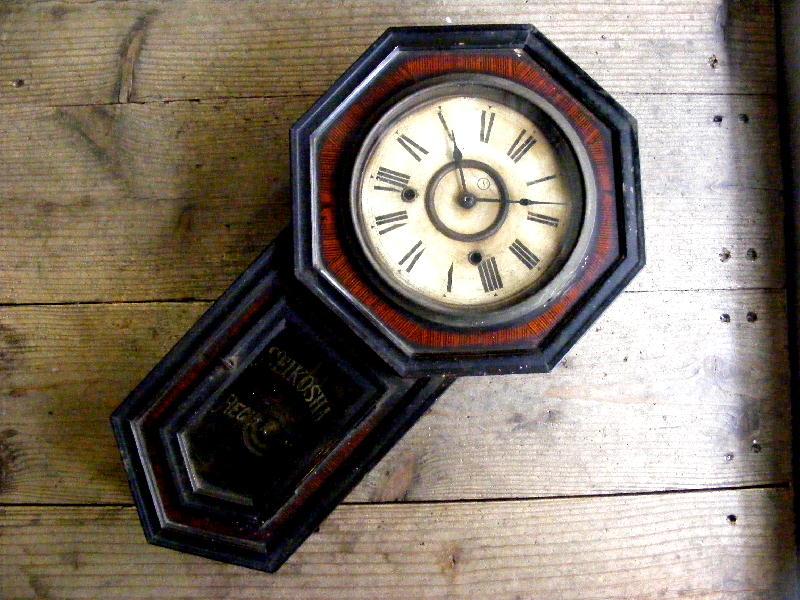 大正頃・精工舎・八角型・振り子時計(電池式・クォーツ改造)が仕上がりました。