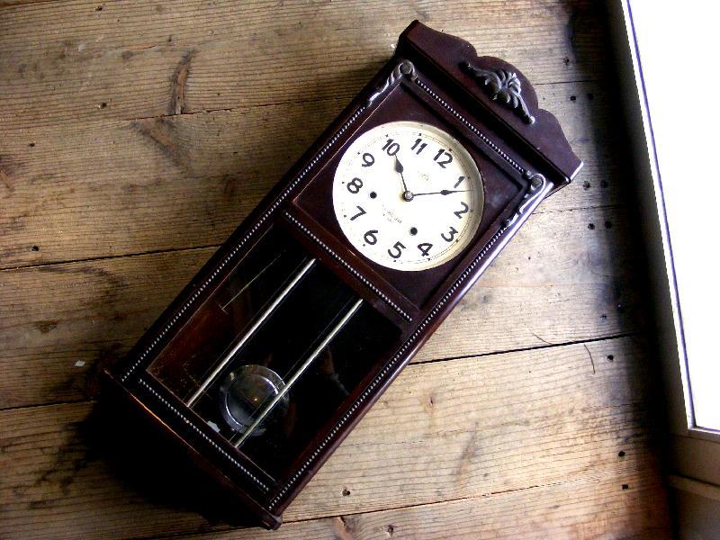 昭和初期頃・精工舎・振り子時計・中型(電池式・クォーツ改造)が仕上がりました。