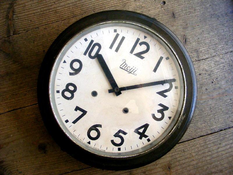 大正頃・明治時計・丸型・振り子時計(電池式・クォーツ改造)が仕上がりました。