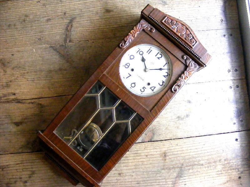昭和初期頃・精工舎・振り子時計・中型・1722(電池式・クォーツ改造)が仕上がりました。